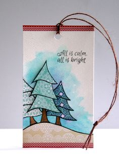 Merry Trees tag for Tracey McNeeley's 25 days of tags 2014