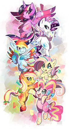 RAINBOW PONIES !!!!!!!!!!!!!!!!!!!!!