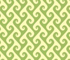 green tea tendrils fabric by weavingmajor on Spoonflower - custom fabric