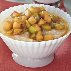 Gluten-Free Breakfast   Hot Quinoa Cereal with Maple Syrup Apples   CookingLight.com