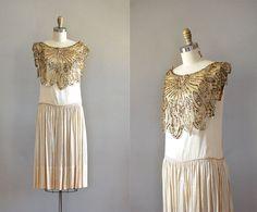 1920s silk dress.