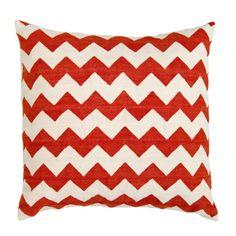 Nantucket Red Zig Zag Amagansett Pillow