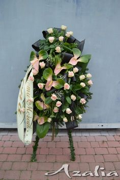 Funeral Flower Arrangements, Funeral Flowers, Floral Arrangements, Floral Design, Tropical, Wreaths, Plants, Gardening, Garden