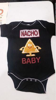 NACHO BABY  Funny Black Baby Onesie, Romper, Bodysuit, Boy's Onesie, Girl's Onesie by MayberryHills on Etsy