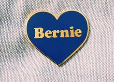 Bernie Sanders Heart Pin for those who are sweet on Bernie 2016. 1/2 Proceeds from sales go to the Bernie campaign!