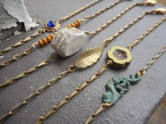 The Tinker Accent layering bracelet. Choice of Glass Crystal Antler Leaf Verdigris Angel Metal Layering bracelets simple dainty deer antler
