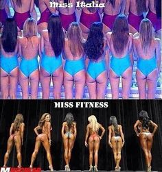 Miss Italia VS. miss fitness     Bitch please - bodybuilding for life !