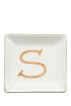 Ceramic Gold ''S'' Ring Dish