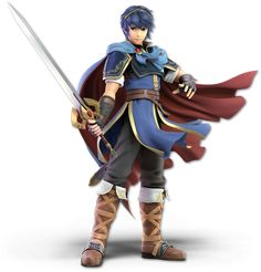 Marth as he appears in Super Smash Bros. Ultimate.