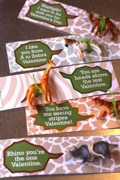 wild animal valentine printable