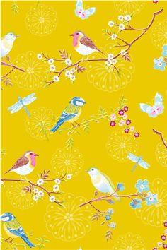 PiP Early Bird Geel behang