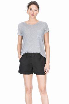Lilla P Cotton Linen Short in Black $118 Elizabeth Boutique #LillaP #bottoms #shorts