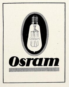 Osram light bulb advert. 1917.