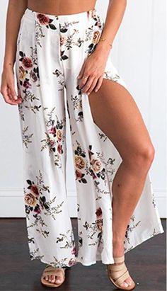 Calça Pantalona Estampa Floral - Ref.088 - comprar online
