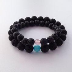 Couples bracelets Valentines gift matching lava bracelet by Chalso