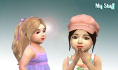 Mystufforigin: Sweet Ponytail for Toddlers  - Sims 4 Hairs - http://sims4hairs.com/mystufforigin-sweet-ponytail-for-toddlers/