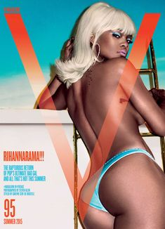 Rihanna Goes Topless, Wigs Out for V Magazine Cover | Cambio