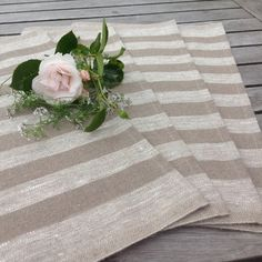 linen placemats / natural linen placemsts / rustic by BicoEstonia