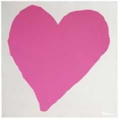 """Heart"" by Emily Flett, $125, 19"" x 19,"" available at Serena & Lily. #serenaandlily"