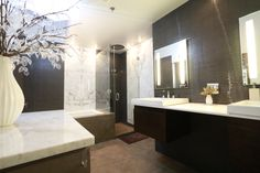 Another angle of our beautiful spa like bathroom in Washington Square!