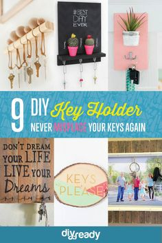 Let these DIY key holders remember where your keys are so you... #featured #lifehacks #masonjarcrafts