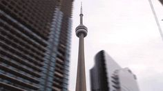 Coolest gif of the CN Tower I've ever seen... props to the dude who did this