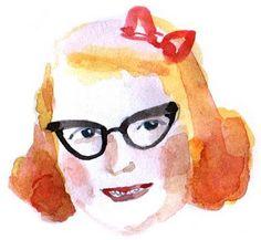 Myrtle, portrait illustration  watercolors