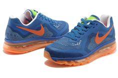 finest selection 53e96 57b88 Cheap Nike Air Max 2014 Mesh Mens Shoes Blue Orange
