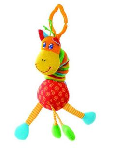 Tiny Love TinySmarts Adorable jittery clip-toy - Giraffe