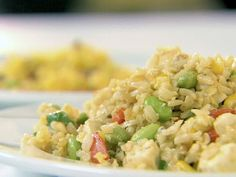 Fried Rice with Scallions, Edamame and Tofu from CookingChannelTV.com