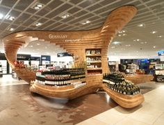 Made in Germany goods in Frankfurt airport duty free. Travel retail