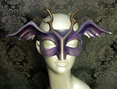 Woodland Pixie Leather Mask by kmickel on Etsy, $80.00