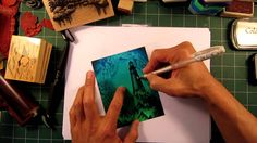 Stampscapes 101: Video 36.  Simplescapes using a Brayer