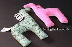 Serving Pink Lemonade: Little Stuffed Giraffes