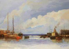 "Saatchi Art Artist Andres Vivo; Painting, ""3791  Blue coast"" #art"