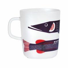 Jolie illustration pour une tasse d'amateur de pêche