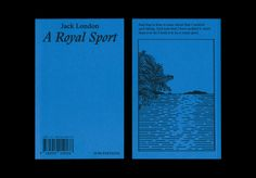 A Royal Sport, Jack London  Jérémy Glâtre graphism Rudy Guedj draings