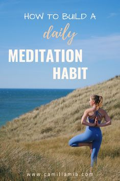 I built a meditation habit in 31 days. I'm sharing the tips that helped me achieve it so you can start your own meditation habit too. Meditation Methods, Kundalini Meditation, Free Guided Meditation, Meditation Apps, Meditation Benefits, Meditation For Beginners, Yoga Videos, Workout Videos, Yoga For Knees