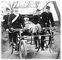 Bicycle ambulances are being made and given to people in need around the world.
