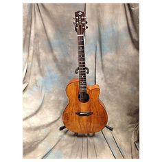 Luna Guitars Gypsy Spalt Acoustic Acoustic Guitar Natural