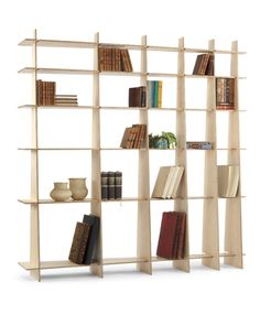 bookshelf fixed together without any hardware or glue