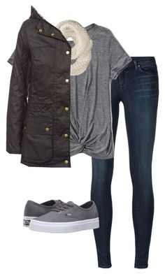 #fall #outfits /  Barbour Jacket + Vans