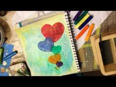 Art Journal Page Tutorial - using gelatos