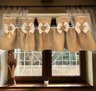 130cm Valance Blue Stripe Crochet Cotton Lace Home Kitchen Window Cafe Curtain | eBay Half Window Curtains, Check Curtains, Lace Window, Tassel Curtains, Crochet Curtains, Burlap Curtains, Country Kitchen Curtains, Lace Valances, Burlap Lace