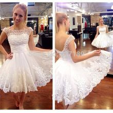 62cb295bfe1 2016 white short wedding dresses the brides sexy lace wedding dress bridal  gown plus size vestido