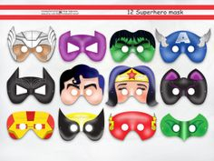 Superhero Masks Cut-Out,party mask,batman birthday,decoration,spiderman,super girl,iron man,avengers party,Captain America,Thor,Hulk,Flash