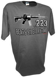 223 Caliber Assault Rifle Ar15 M16 Ak47 Colt 45 1911 Pro Guns Firearms 9mm Tee By Achtung T Shirt LLC