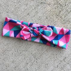 valentine's day bow, abstract bow, abstract top knot, colorful bow, colorful hair accessories, knotted headband, baby bows, hair bows by shopsimplydarling on Etsy