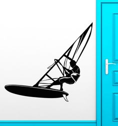 Wall Stickers Vinyl Decal Windsurfing Extreme Sports Water Cool Decor (ig1758)