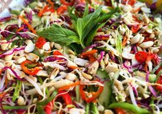 Asian Slaw with Spicy Thai Vinaigrette Recipe -  Are you ready to cook? Let's try to make Asian Slaw with Spicy Thai Vinaigrette in your home!